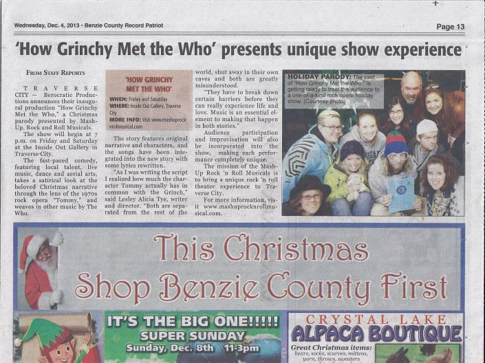 Benzie article grinchy